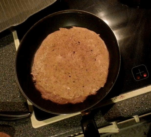 Kokosowy omlet amarantusowo – komosowy