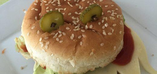 Wegetariański burger diabełek